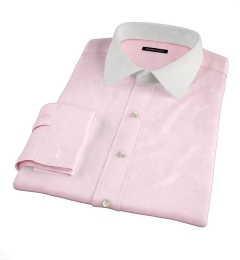 Hudson Pink Wrinkle-Resistant Twill Custom Made Shirt