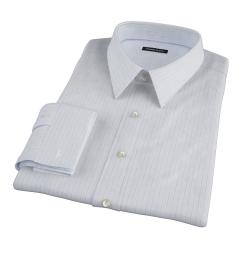 Canclini 140s Blue Multi Stripe Men's Dress Shirt