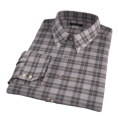 Jackson Olive Tartan Flannel Fitted Dress Shirt