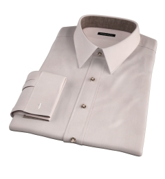 Genova 100s Beige End-on-End Dress Shirt