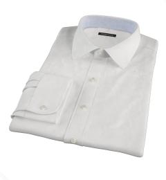 White 100s Twill Custom Dress Shirt