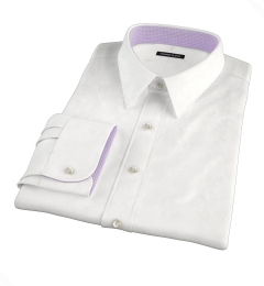 White Extra Wrinkle-Resistant Pinpoint Fitted Shirt