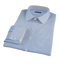 Blue 100s Twill Custom Dress Shirt