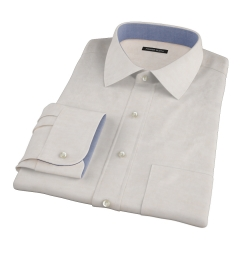 Canclini Tan Linen Custom Made Shirt