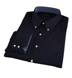 Black Heavy Oxford Custom Made Shirt