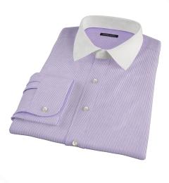 Carmine Lavender Pencil Stipe Dress Shirt