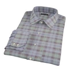 Satoyama Faded Blackwatch Plaid Fitted Shirt