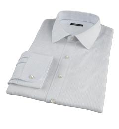 Light Blue 80s Grid Pinpoint Custom Dress Shirt