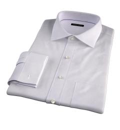 Modena Aqua and Apricot Tattersall Men's Dress Shirt