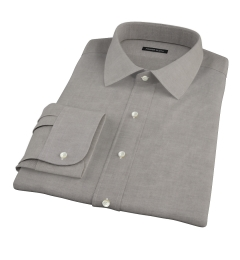 Charcoal Heavy Oxford Cloth Fitted Shirt