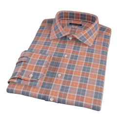 Orange Dock Street Flannel Fitted Dress Shirt