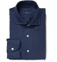 Portuguese Navy Delave Linen Custom Made Shirt