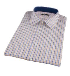 Orange and Blue Gingham Short Sleeve Shirt