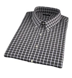 Lorimer Green and Orange Plaid Short Sleeve Shirt