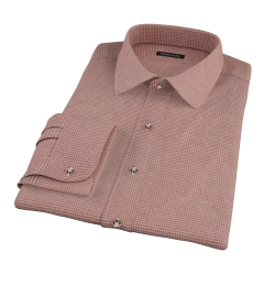 Canclini Brown Houndstooth Flannel Dress Shirt