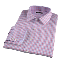 Thomas Mason Red and Lavender Multi Check Tailor Made Shirt