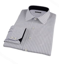 Canclini Grey 120s Multi Gingham Dress Shirt
