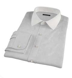 Stanton 120s Grey End-on-End Men's Dress Shirt