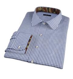 Navy Medium Gingham Custom Dress Shirt