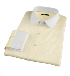 Bowery Yellow Wrinkle-Resistant Pinpoint Tailor Made Shirt