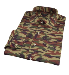 Fatigue Camouflage Print Men's Dress Shirt