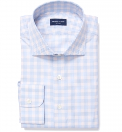 Alassio Amber End on End Check Fitted Shirt