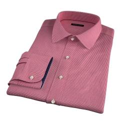 Vestry Red Mini Gingham Dress Shirt