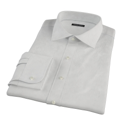 100s Pale Grey Stripe Men's Dress Shirt