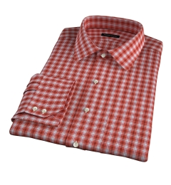Terra Cotta 120s Check Custom Dress Shirt