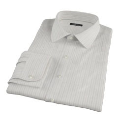 Lavender Grey Dobby Stripe Men's Dress Shirt