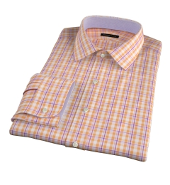Canclini Orange San Sebastian Plaid Tailor Made Shirt