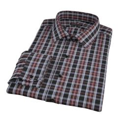 Whistler Maroon Plaid Custom Made Shirt