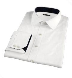 Hudson White Wrinkle-Resistant Twill Tailor Made Shirt