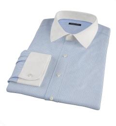 140s Blue Wrinkle-Resistant Stripe Dress Shirt