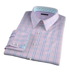 Adams Pink Multi Check Dress Shirt