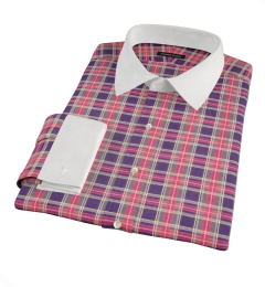 Red Navy Stewart Tartan Tailor Made Shirt