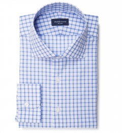 Essex Blue Multi Check Custom Made Shirt