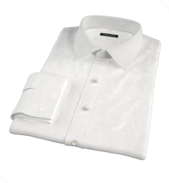 White 100s Royal Oxford Custom Made Shirt