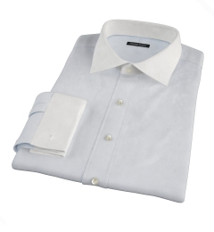 Canclini Light Blue Fine Stripe Custom Made Shirt