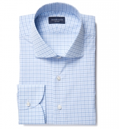 Thomas Mason Goldline Blue Multi Check Tailor Made Shirt