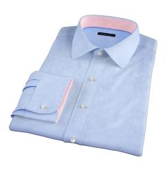 Thomas Mason Goldline Light Blue End on End Custom Made Shirt