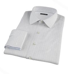 Mercer Blue Twill Check Dress Shirt