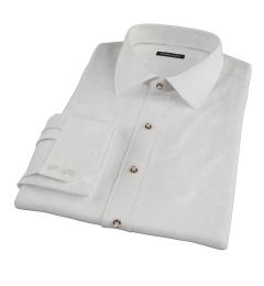 Ecru 100s Twill Men's Dress Shirt