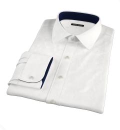 100s Diagonal Jacquard Fitted Dress Shirt