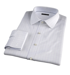 Verona Lavender 100s Border Grid Tailor Made Shirt