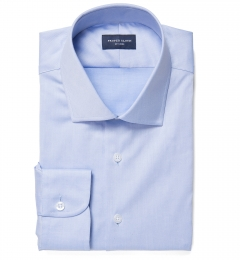 Crosby Blue Wrinkle-Resistant Twill Custom Dress Shirt