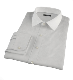 Canclini Light Gray End on End Men's Dress Shirt