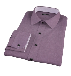 Jones Eggplant End on End Dress Shirt