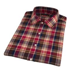 Dorado Orange Plaid Short Sleeve Shirt