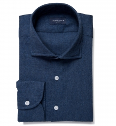 Canclini Slate Mini Herringbone Flannel Tailor Made Shirt